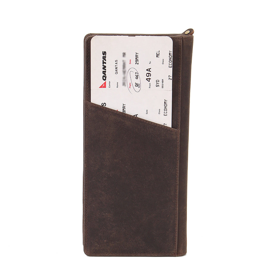 Texas Ziparound RFID Leather Secure Travel Wallet - Brown , Zoomlite - 1