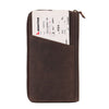 Arizona Ziparound RFID Leather Secure Travel Wallet - Brown , Zoomlite - 2