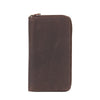 Arizona Ziparound RFID Leather Secure Travel Wallet - Brown , Zoomlite - 3