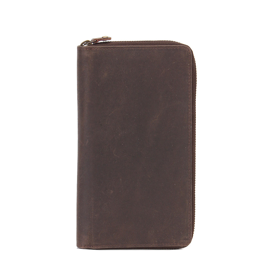 Arizona Ziparound RFID Leather Secure Travel Wallet - Brown , Zoomlite - 1