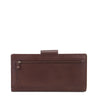 Zoomlite leather rfid wallet with rear zip compartment