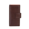 Zoomlite leather rfid travel wallet in brown