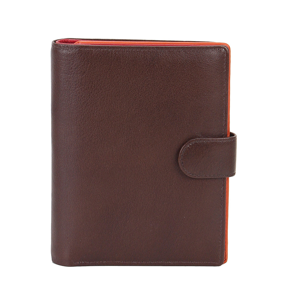 Zoomlite leather rfid wallet with 32 card slots, 2 ID windows, plus notes and coins