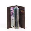Zoomlite vintage leather rfid passport wallet