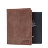 Zoomlite Leather Passport wallet with RFID blocking to prevent identity theft