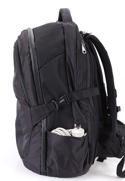 Zoomlite Road Warrior Travel Carry on Backpack - Black - has 2 external side pockets