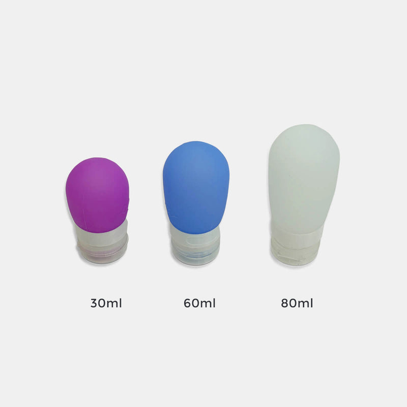 Silicone travel bottle set
