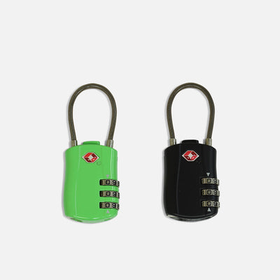 3 Number TSA Cable Lock - 2 piece set