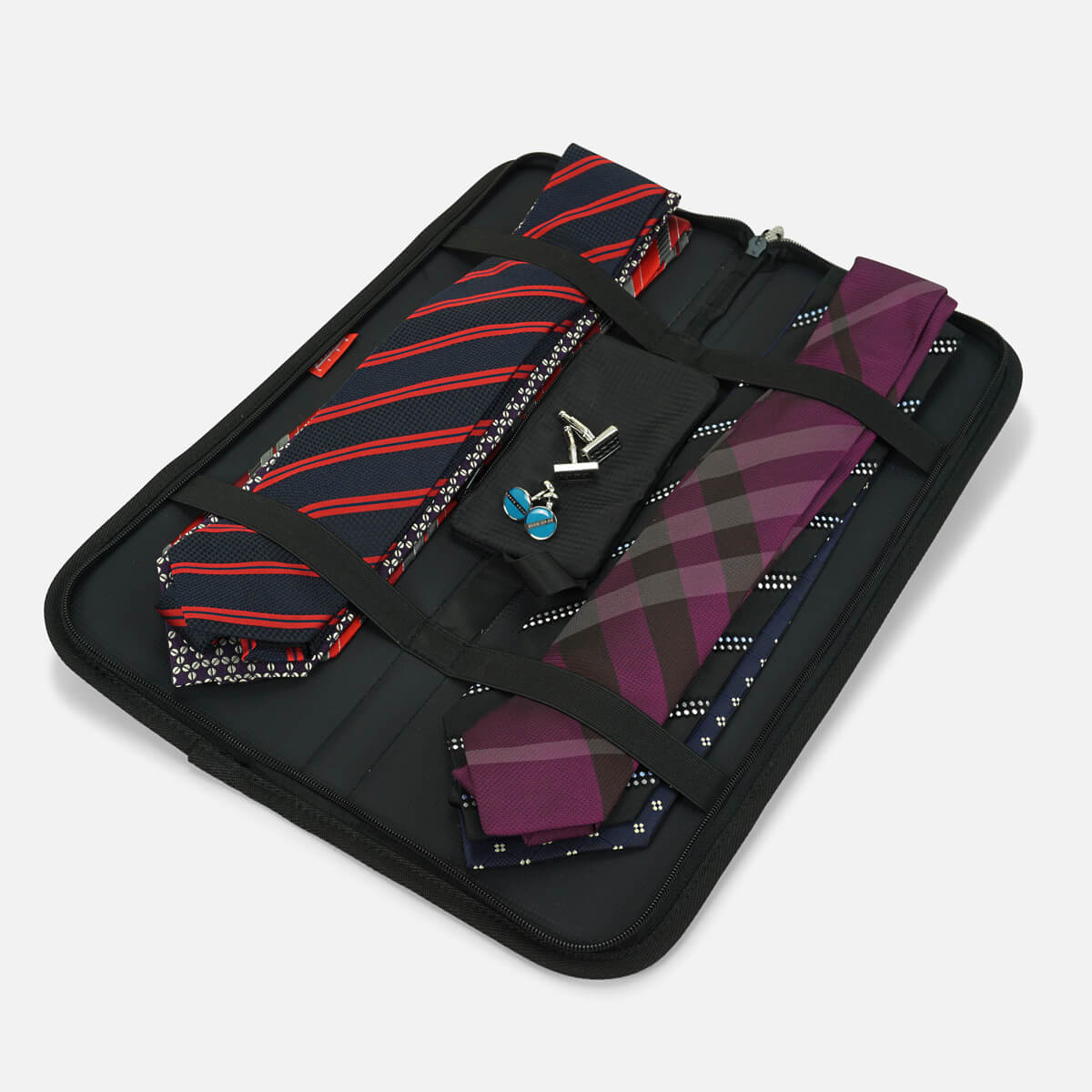 Tie Case Travel Organiser with Cuff Link Pouch