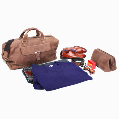 Zoomlite Toby Weekender Duffle bag in vintage look leather will suit your lifestyle