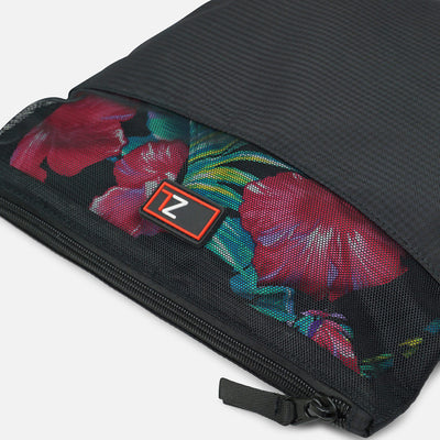 Zoomlite travel pouch with breathable mesh to let you see your items inside