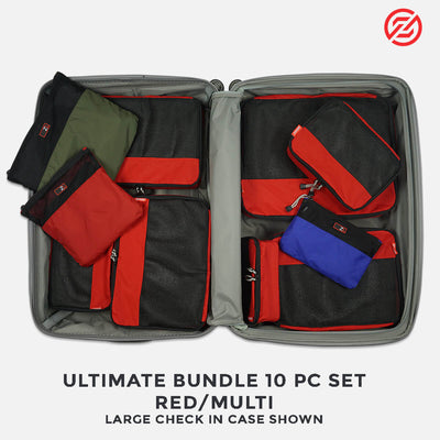 Packing cubes in a Large 70 cm Suitcase - compartmentalise your packing