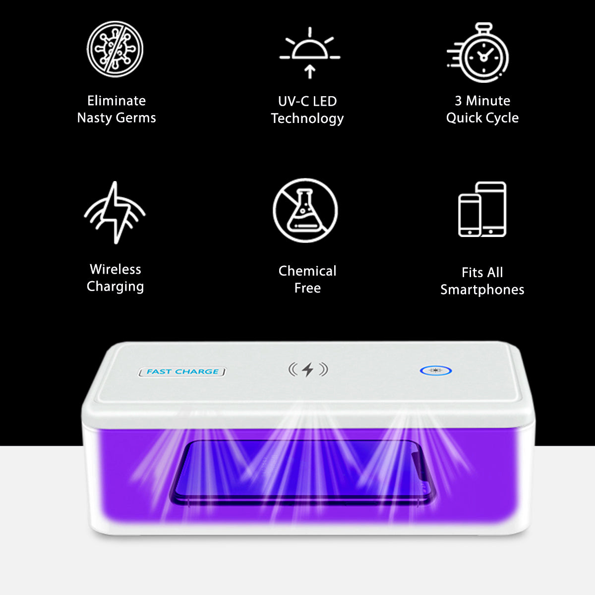 UV Phone Sanitiser Wireless Charger Pro