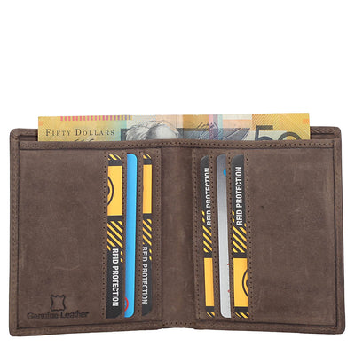 Toby Vintage Leather RFID Blocking Folding Card Holder