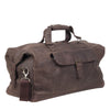 Zoomlite Toby Weekender Duffle bag in dark brown vintage look leather