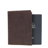 Zoomlite Vintage Leather RFID Passport Holder - Brown