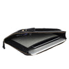 Zoomlite leather laptop and tablet sleeve with organiser section