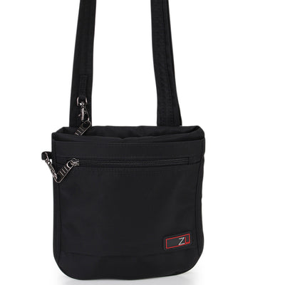 Zoomlite travel safe bags - slim crossbody Black with lockable zippers