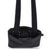 Zoomlite anti theft bags - slim crossbody Black showing Safe N Secure buckle