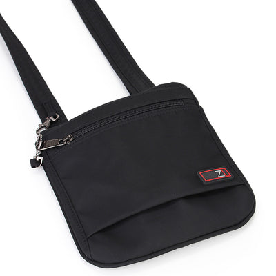 Zoomlite anti theft bags - slim crossbody Black has anti slash panels
