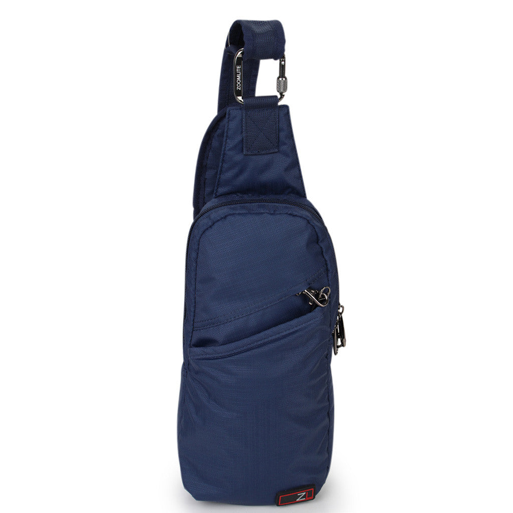 Zoomlite anti theft bags - Essentials Crossbody sling - Navy Blue