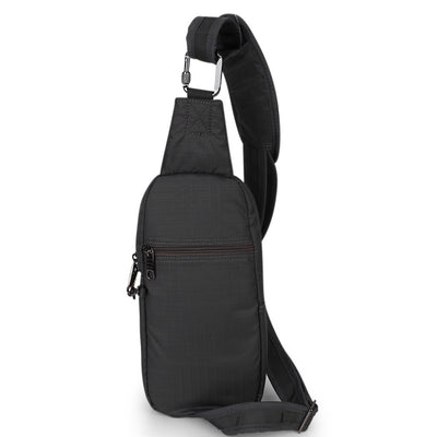 Zoomlite travel safe bags - Essentials Crossbody sling showing rear pocket