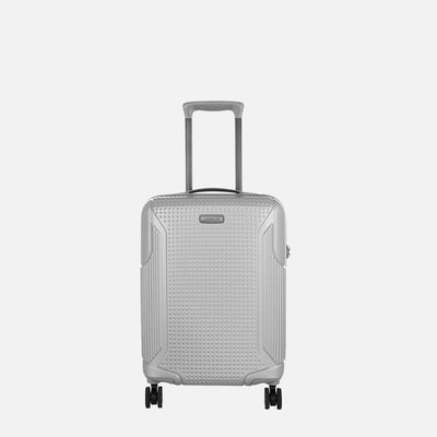 Zoomlite 48cm Cabin Carry On Suitcase in lightweight PC - Silver