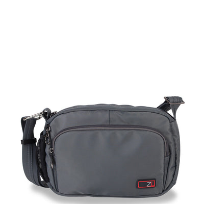 Zoomlite Anti theft crossbody bag - Travel unisex bag - Grey