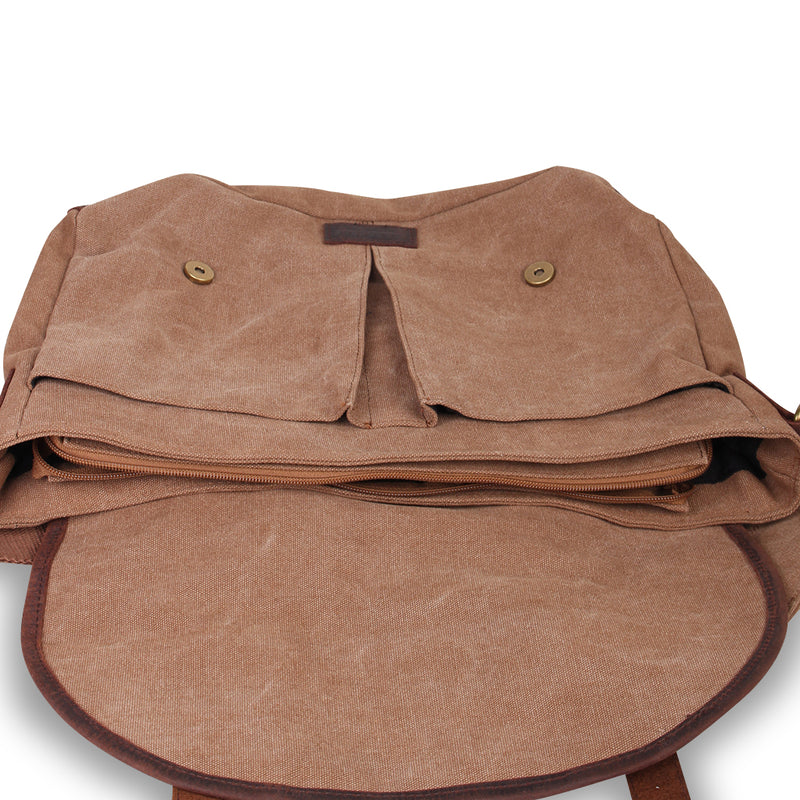 Kakadu Vintage Messenger Bag - Leather Trimmed