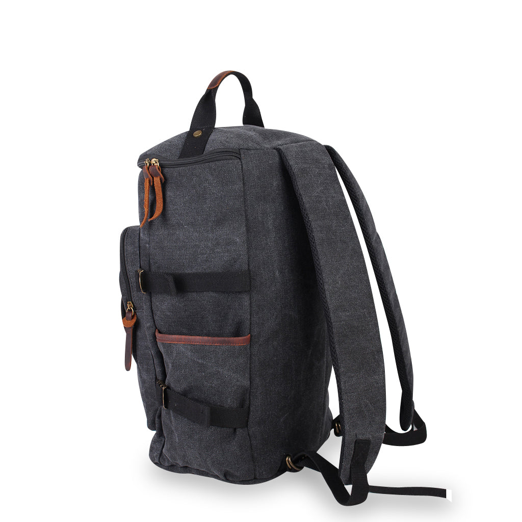 Zoomlite Kakadu Convertible Duffle Backpack, Vintage Leather Trims 20L 38f70f9217