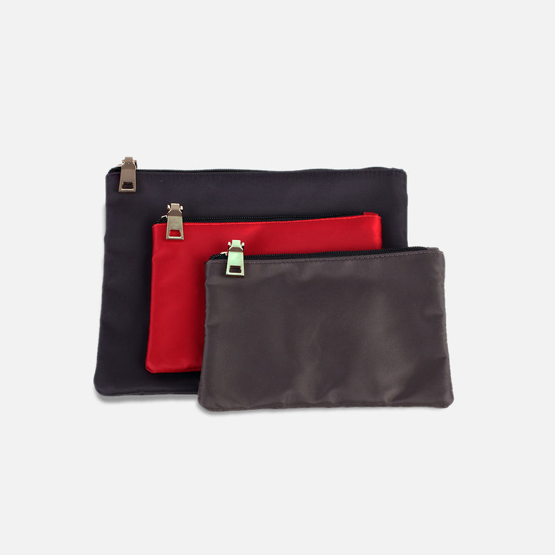 3 Pc Zip Travel Packing Pouch Set