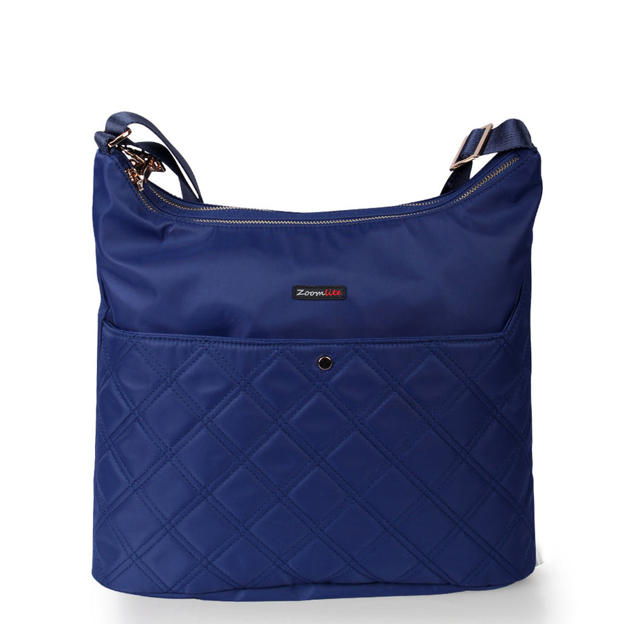 Zoe Quilted Crossbody RFID Hobo