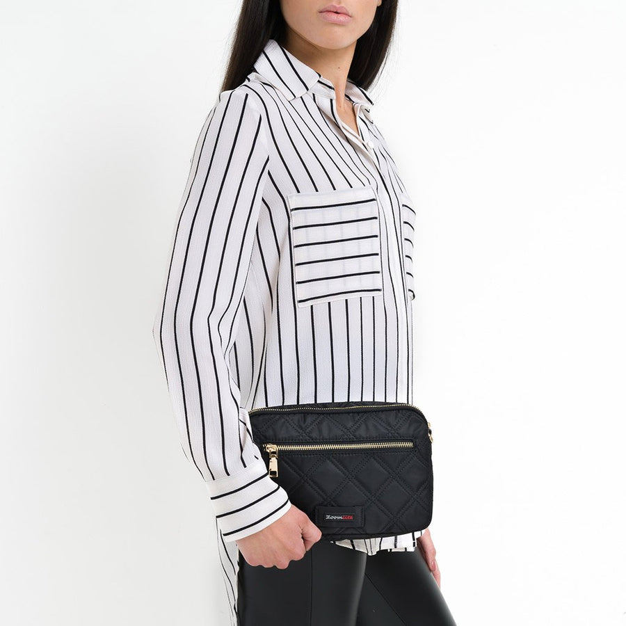 Kate Quilted RFID Convertible Crossbody