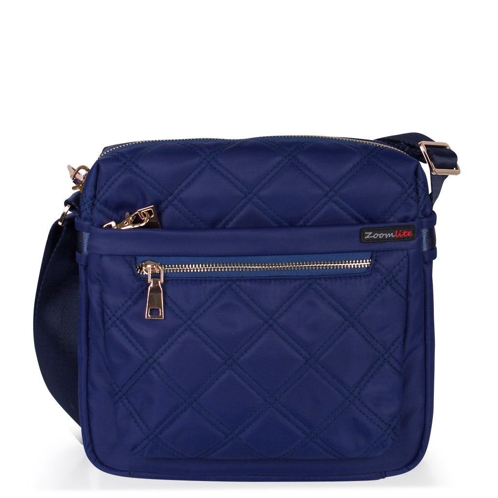 Adele Quilted RFID Messenger Bag