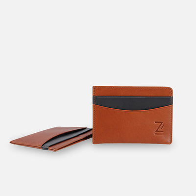 Zoomlite thin leather wallet - minimalist design, premium leather
