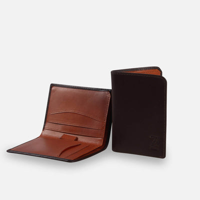 Zoomlite leather slim wallet with RFID blocking technology