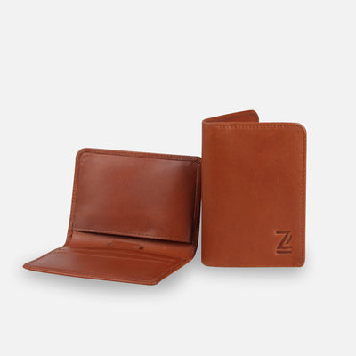 Zoomlite leather Thin wallet with RFID blocking, for cards