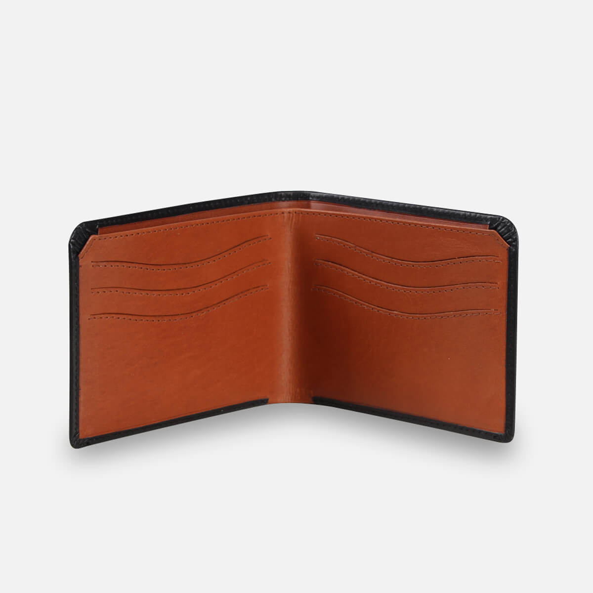 Zoomlite leather Slim wallets with RFID protection - inside view