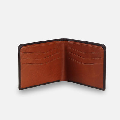 Zoomlite slim wallet with RFID protection in soft leather