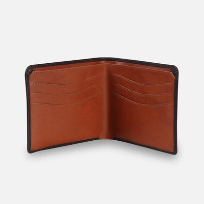 Zoomlite leather card wallet with hidden coin compartments