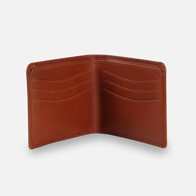 Zoomlite leather card and coin wallet with rfid blocking technology