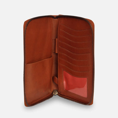 Zoomlite leather Blaise RFID Ziparound wallet - the ultimate travel wallet