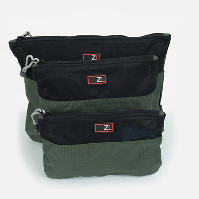 3 Piece Travel Packing Organiser Pouch Set