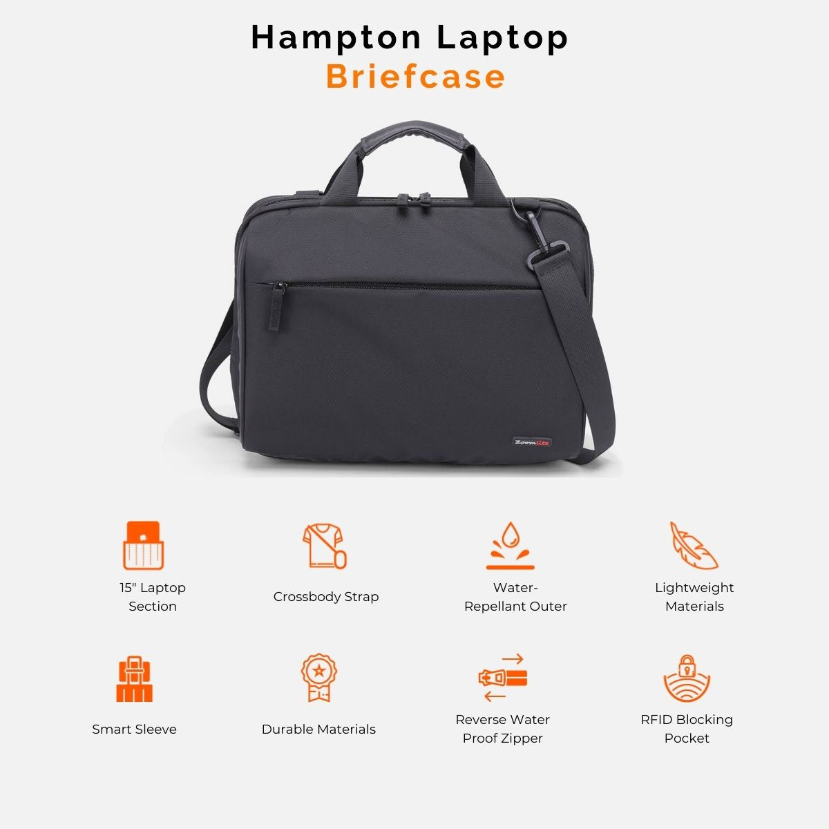 Hampton Slim Laptop Briefcase