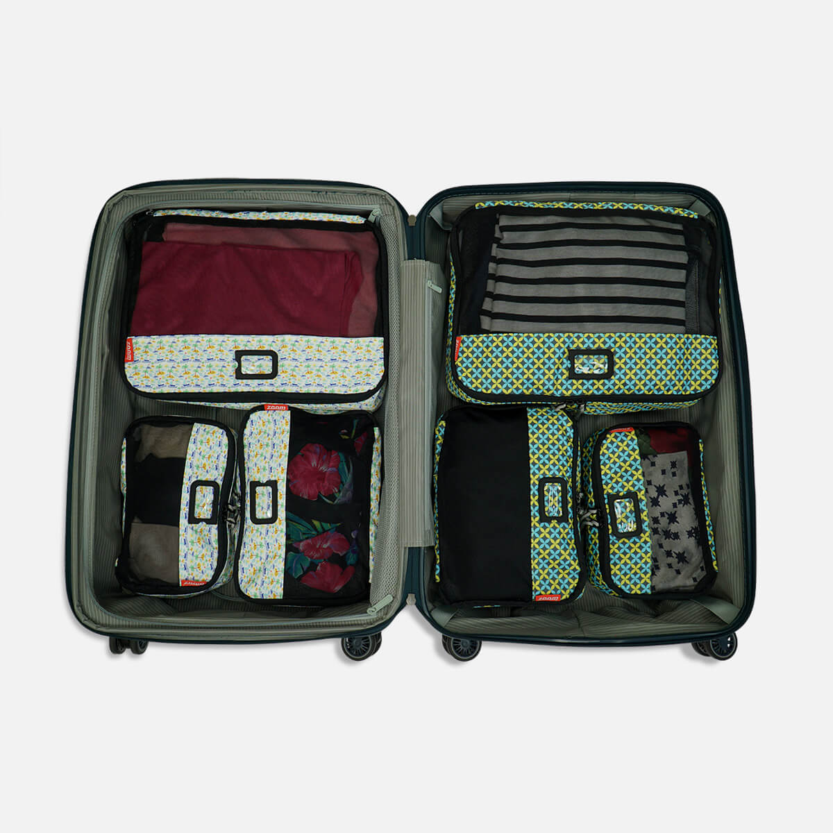 Designer Printed Packing Cubes 5 Pc Set
