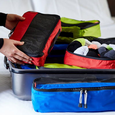 Zoomlite Packing Cubes keep you organised on your travels