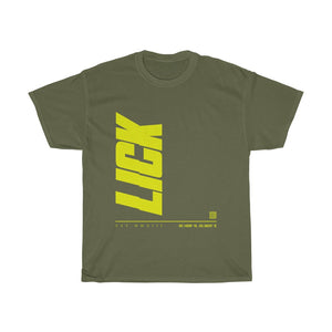 Yellow Lick Glitch Verticle Tee