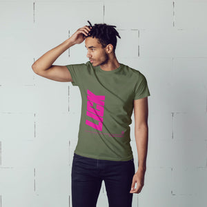 Pink Lick Glitch Verticle Tee