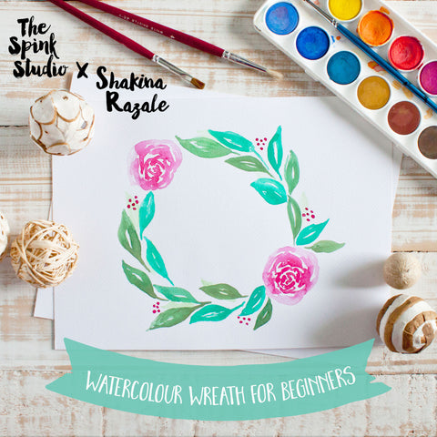 Watercolour Wreath Workshop  for Beginners