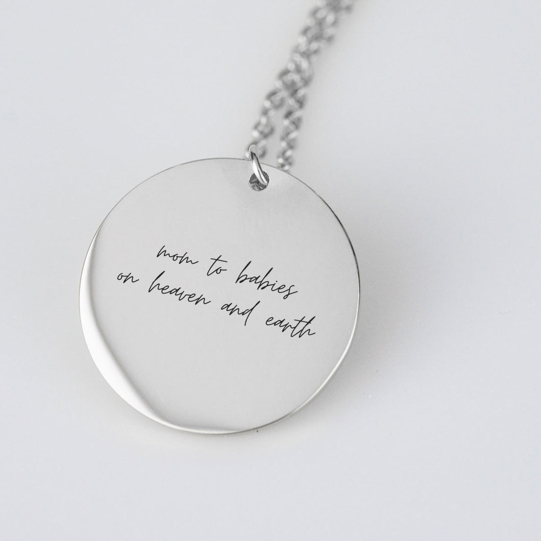 Mom To Babies On Heaven And Earth Necklace